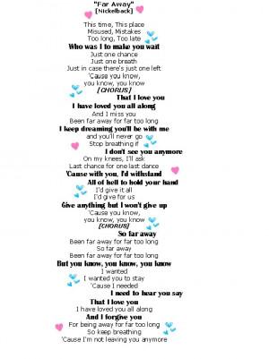 far away nickelback lyrics Image