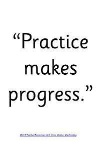 : Practice Makes Progress Childrens Quote , Childrens Quotes , Quotes ...