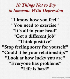 not to say depression