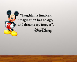 Details about FULL COLOUR MICKEY MOUSE QUOTE WALL STICKER DECAL MURAL ...