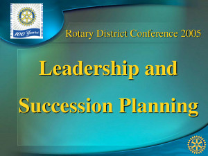 Transformational Leadership And Succession Planning