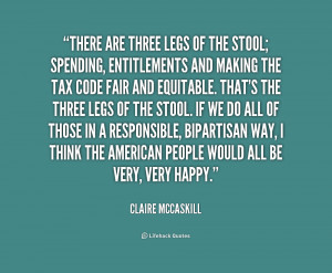 There are three legs of the stool; spending, entitlements and making ...