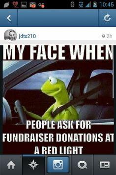 Spot on, instagram, instafunny, kermit, fundraising, donations, funny