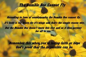 Bumble Bee- Faith
