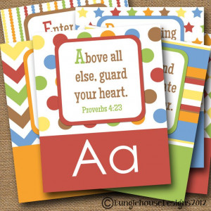 ABC Scriptures for Kids Children's Alphabet DIY Printable