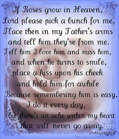 ... Birthday. Happy Birthday Daddy in Heaven! I love and miss you very