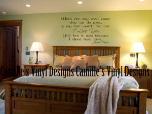 dinna have time Jamie Fraser I Love You Outlander Quote Vinyl Wall ...