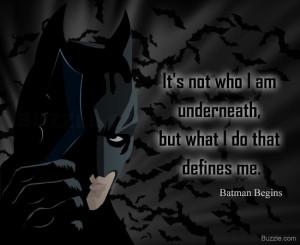 Batman quote from Batman