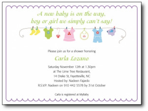 Cool Clothesline Baby Shower Invitations Ideas Baby Magazine