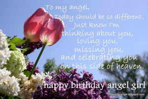 happy birthday in heaven quotes | first birthday in heaven birthday ...