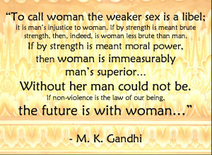 Download Mahatma Gandhi Wallpaper on Woman Empowerment