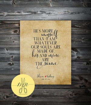 Personalized Emily Bronte Love Quote