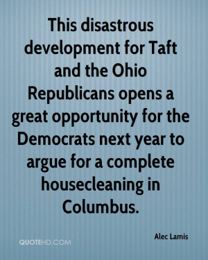 This disastrous development for Taft and the Ohio Republicans opens a