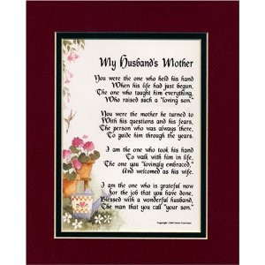 Mother In Law Poem by Poems for In-Laws / Image via Amazon.com