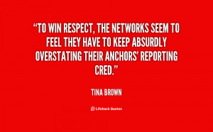 To win respect, the networks seem to feel they have to keep absurdly ...
