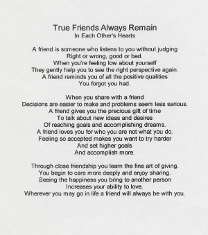 True Friends Always [Poem]