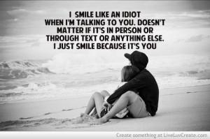 couples, cute, love, pretty, quote, quotes, you make me smile