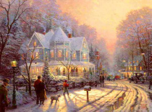 thomas kinkade christmas paintings