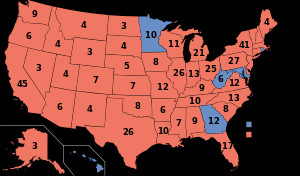 The electoral map of the 1980 election