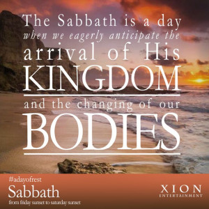 Change will come to all things! Happy Sabbath from your friends at ...
