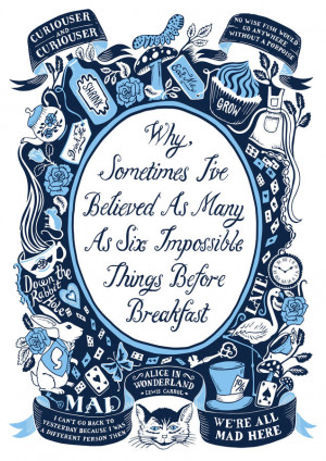 homepage > LUCY LOVES THIS > ALICE IN WONDERLAND, FAMOUS QUOTES PRINT