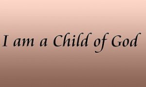 Vinyl Wall Art Quote I Am a Child of God, Christian