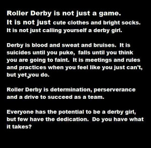 Everything in this picture is true about derby, and it is true about ...