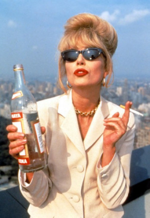 Joanna Lumley as Patsy Stone in 'Absolutely Fabulous'. Photo: Rex