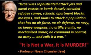 noam chomsky its not war its murder by zionis israel