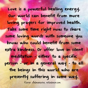 TWEET THIS NOW: Love is a powerful healing energy. Read @notsalmon ...