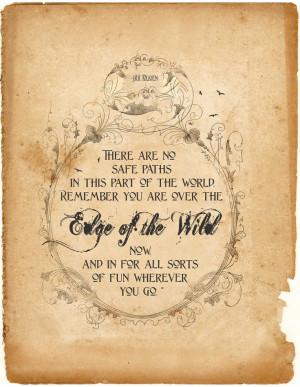 Hobbit Quote Print, Inspiration Art Typography, Brave, Tolkien ...