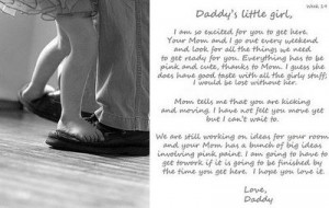 Daddy's letter to unborn baby. So sweet.