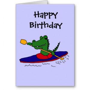 Funny Gator Kayaking Greeting Card #alligators #funny #kayaking # ...