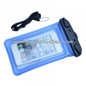 Inflatable cellphone waterproof floating dry bag for iphones