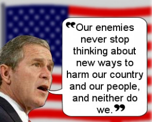 Liked these Bushisms and funny George Bush quotes ? Then share them ...