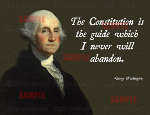 George Washington Constitution Poster