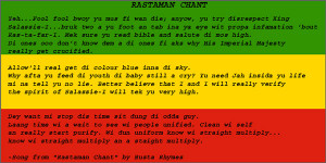 LISSEN TO DI WORDS DI RASTAMAN SAY