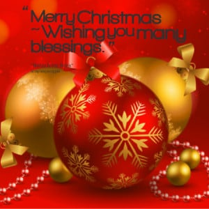 Quotes Picture: merry christmas ~ wishing you many blessings