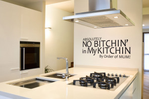 ... Kitchen Wall Decor With Absolutely No Bitchin In My Kitchin Quotes