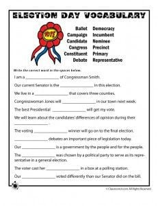Printable Election Day worksheets More