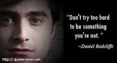 Daniel Radcliffe quote. #Celebrity #quote More