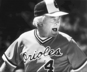 July 1980: Earl Weaver argues a call with an umpire. He was later ...