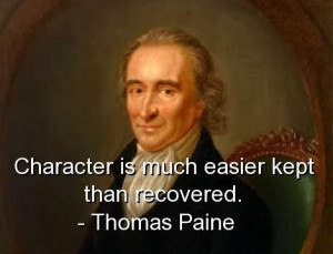 Thomas paine quotes and sayings character true