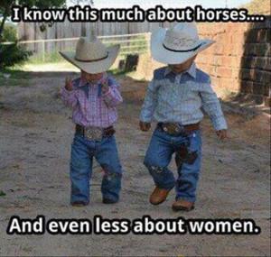 funny cowboys, women vs horses, quotes