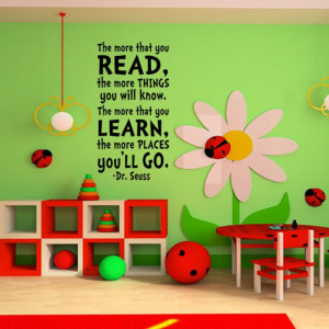 Cute reading area – Dr. Seuss Wall Decal Vinyl Sticker Art Party ...