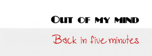 Out Of My Mind Facebook Cover