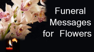 the funeral wishes can be sent with funeral flowers of white color for ...