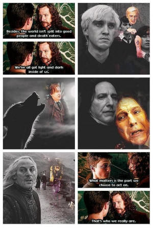 draco malfoy, harry potter, lucius malfoy, quotes, remus lupin ...