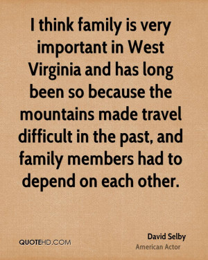 ... difficult in the past, and family members had to depend on each other