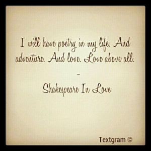 Shakespeare In Love. #quotes Print by K C